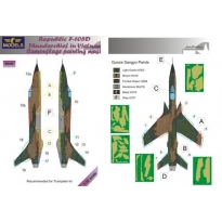 Republic F-105D Thunderchief Camouflage Painting Mask (1:32)