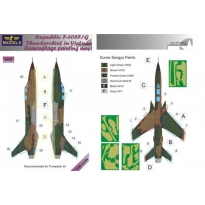 Republic F-105F/G Thunderchief Camouflage Painting Mask (1:32)