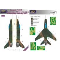N.A. F-100D Super Sabre USAF in Vietnam Camouflage Painting Mask (1:32)