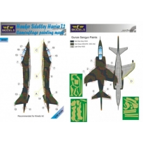 Hawker Siddeley Harrier T.2 Camouflage Painting Mask (1:48)
