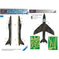 Hawker Hunter T.Mk.7/8 in RAF service Camouflage Painting Mask (1:48)