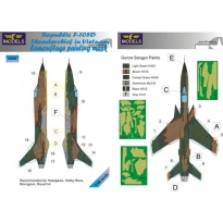 Republic F-105D Thunderchief Camouflage Painting Mask (1:48)