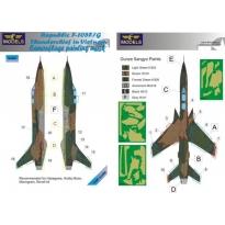 Republic F-105F/G Thunderchief Camouflage Painting Mask (1:48)