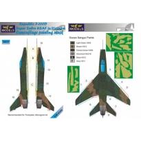 N.A. F-100D Super Sabre USAF in Vietnam Camouflage Painting Mask (1:48)