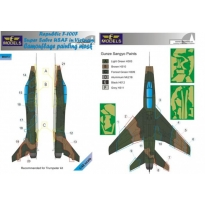 N.A. F-100F Super Sabre USAF in Vietnam Camouflage Painting Mask (1:48)