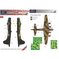 Boeing B-17 RAF Camouflage Painting Mask (1:72)