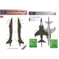 Hawker Siddeley Harrier T.2 Camouflage Painting Mask (1:72)