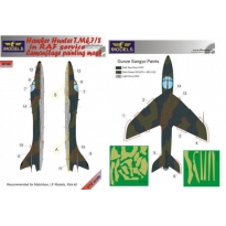 Hawker Hunter T.Mk.7/8 in RAF service Camouflage Painting Mask (1:72)