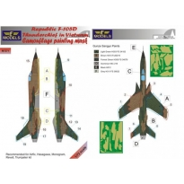 Republic F-105D Thunderchief Camouflage Painting Mask (1:72)