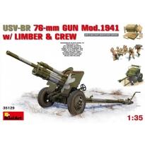 USV-BR 76-mm Gun Mod.1941 w/Limber & Crew (1:35)