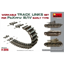 Pz.Kpfw III/IV Workable Track Links Set.Early Type (1:35)