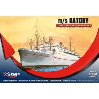 """Statek pasażersko-drobnicowyi m/s """"Batory"""" (1:500)"""