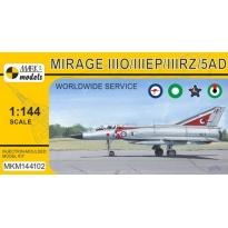 """Mirage IIIO/EP/RZ/5AD """"Worldwide Service"""" (1:144)"""