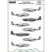 303 Squadron North Ameriacan Mustangs mask + decal (1:32)
