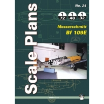 Scale Plans No.24 Messerschmitt Bf 109E (1:72,1:48,1:32)