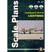 Scale Plans No.25 Lockheed P-38 F-H Lightning (1:72,1:48,1:32)