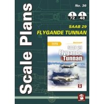 Scale Plans No.35 SAAB 29 Flygande Tunnan (1:72,1:48)