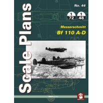Scale Plans No.44 Messerschmitt Bf 110 A-D (1:72,1:48)