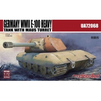 Germany WWII E-100 Heavy Tank with Mouse turret (1:72)