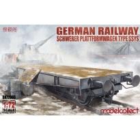 German Railway Schwerer Plattformwagen Type ssys 1+1 pack (1:72)