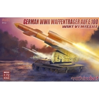German WWII E-100 panzer weapon carrier with V1 Missile launcher (1:72)