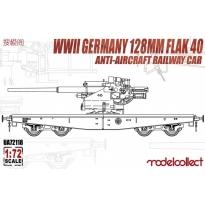 WWII Germany 128mm Flak 40 Anti-Aircraft Railway Car (1:72)