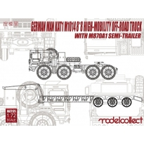 German MAN KAT1M1014 8*8 HIGH-Mobility off-road truck with M870A1 semi-trailer (1:72)