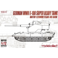 German WWII E-100 super heavy tank with 128mm flak 40 gun (1:72)