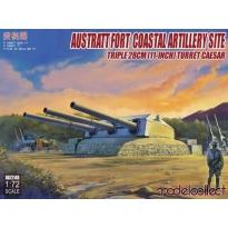 Austratt Fort Coastal Artillery Site Triple 28cm (11-Inch) Turret Casesar (1:72)