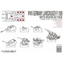 WWII Germany landcruiser p.1000 ratte weapon set pack (1:72)