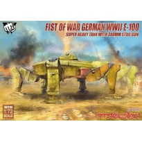 Fist of War German WWII E-100 Super Heavy Tank with 380mm stug gun (1:72)