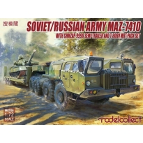 Soviet/Russian Army MAZ-7410 with ChMZAP-9990 semi-trailer and T-80BV mbt pack set (1:72)