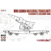 WWII German Wasserfall Ferngelenkte Flarakete Railway Car (1:72)