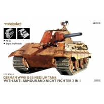 Germany WWII E-50 Medium Tank with anti-armour and night fighter 2 in 1 (1:72)