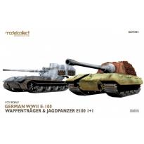 German WWII E-100 waffentrager&jagdpanzer E-100 1+1 (1:72)
