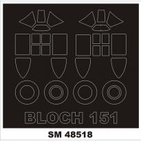 Mini Mask Bloch MB.151 (1:48)