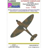 Spitfire Mk.I/V typ A - kamuflaż: Maska (1:48)