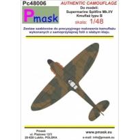 Spitfire Mk.I/V typ B - kamuflaż: Maska (1:48)