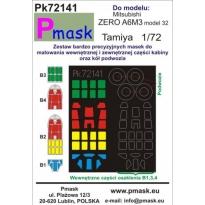 Misubishi A6M3 Zero: Maska (1:72)