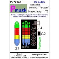 """Nakajima B6N1/2 """"Tenzan"""": Maska (1:72)"""
