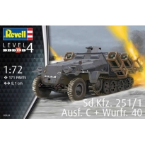 Sd.Kfz.251/1 Ausf.C with Wurfr 40 (1:72)