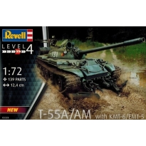 T-55A/AM with KMT-6/EMT-5 (1:72)