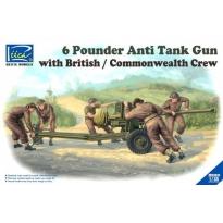 6 Pounder Anti-Tank Gun with British/Commonwealth Crew (1:35)