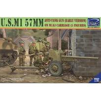 U.S.M1 57mm anti-tank Gun early version on M1A3 Carriage w/Crews (5 figures) (1:35)