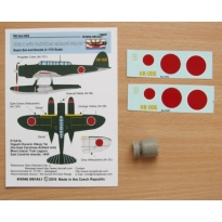 """Cowling with individual exhaust stacks for E13A1 + decals """"HK-006"""" (1:72)"""