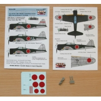 "Air-to-air bombs for A6M2 (Type 99 No.3 Mk.3 incendiary bombs) - 2 pcs + decals ""381 Kokutai"" (1:72)"