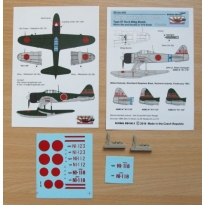 """60 kg bombs for A6M2-N (Type 97 No.6 bombs) - 2pcs + decals """"802nd Kokutai"""" (1:72)"""