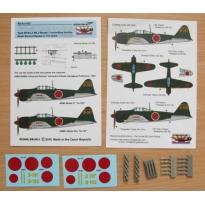 "Air-to-air bombs for A6M2/5 (Type 99 No.3 Mk.3 incendiary air-to-air bombs) - 10 pcs + decals ""Yokosuka K."" (1:72)"