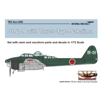 J1N1-R with Turret Type Nakajima - set with resin and vacu-formed parts + decals (1:72)