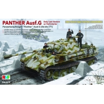 Panther Ausf.G Early/Late w/Full interior (Sd.Kfz.171) Clear Turret & Upper Hull Parts (1:35)